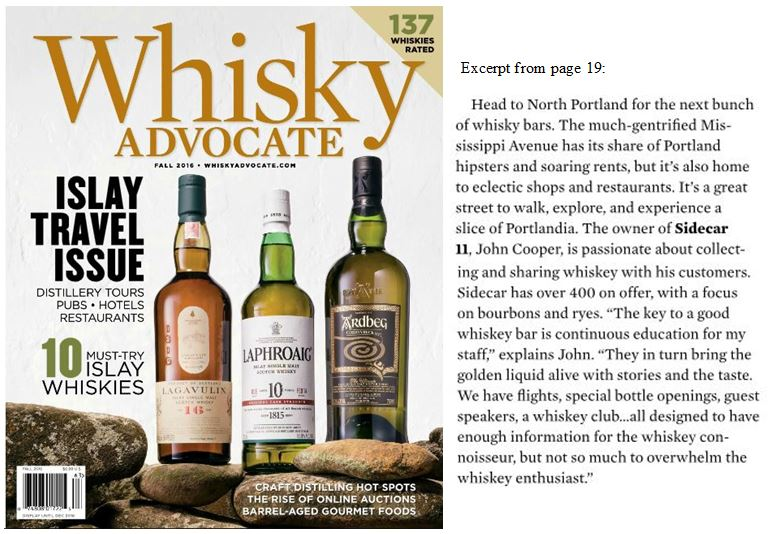 We're in the Whiskey Advocate!