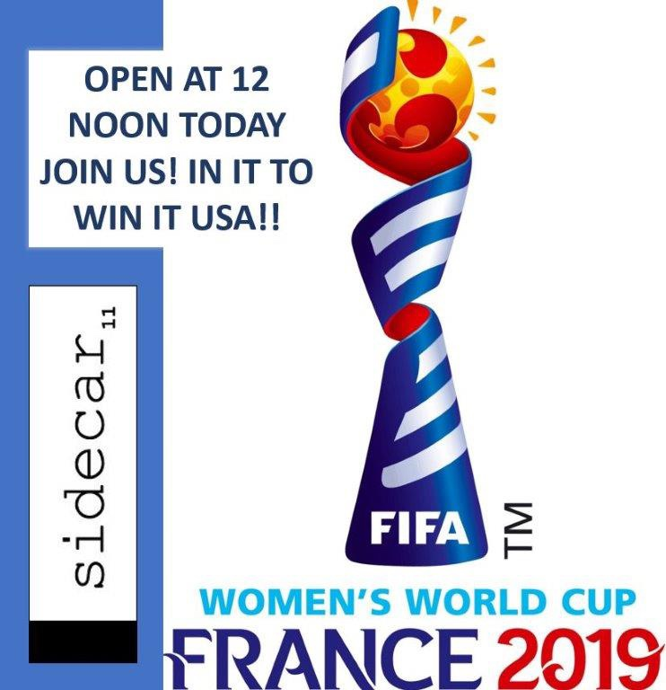 Open at 12noon Today for World Cup Action!