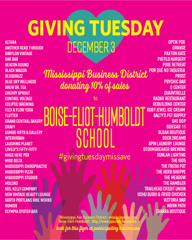 Giving Tuesday Dec 3rd